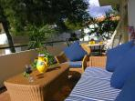 Plenty relaxing and dining terrace space