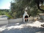 BBQ area overlooking olive grove