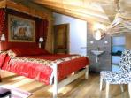 Upstairs The Kings Bedroom.  La Chambre du Roi with access to the balcony