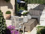 Bastide 2 outdoor lounging on large sofas
