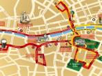 Map of Main Tourist Attractions