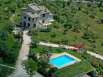 Luxury villa with private pool near Todi.