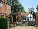 The picturesque view from Chilham village square