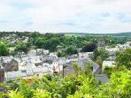 View over Tavistock and Tamar Valley from front garden