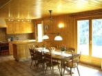 Dining room seats 10 with a well equipped kitchen