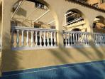 Terrace above the pool