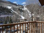 The views of the slopes and the valley from the deck are phenomenal.