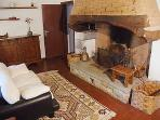 Fireplace to enjoy on colder days or to cook a great Fiorentina steak!