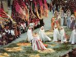 Calendimaggio. The medieval festa  in Assisi at the beginnig of May