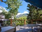 This downtown Telluride home has a huge deck, big views and modern amenities.