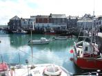 padstow harbour regarded as the most scenic port in the uk