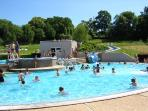 Nearby outdoor heated pool