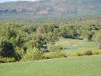 View over local golf course