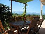 The Patio Area. Have a glass of wine whilst enjoying the stunning views