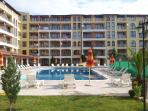 The pool and gardens are well maintained with the sun shining into the pool until late afternoon