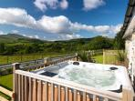 Hot Tub and private garden outside Y Beudy