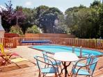 Drink a Kir before taking a dip in the 28 degree heated swimming pool.