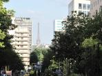 The Eiffel Tour as seen from our street