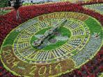 The floral clock in West Princes Street Garden