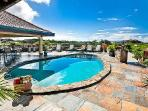 Mon Repos on over an acre of tropical grounds overlooking the ocean with pool