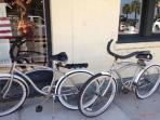 July 2014 image of our two cruiser style bikes, you are welcome to use them