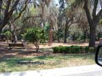 Picnic areas and playground at nearby Pigeon Point Park