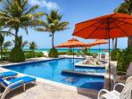 Villa Picon - Spacious beachfront villa, large private pool, Jacuzzi & nearby beach activities