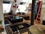 Theatrical Attic Apartment with great views