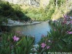lakes with waterfalls Cavagrande del Cassibile
