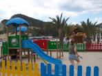 Childs play area for the little ones within the beach