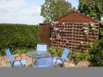 Private courtyard garden to relax or BBQ