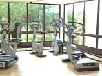 One of two fully equipped gyms. Personal trainer for various programs.