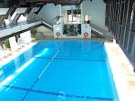 Indoor heated pool at the gym.  Swimming lessons can be arranged.