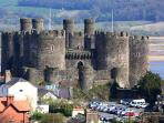 Conwy Castle: Conwy is the best preserved Medieval walled town in the UK