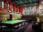 Billiards room and club lounge - the former monks' refectory
