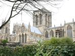 The Minster from another viewpoint in the gardens