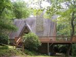 Meadows Cottage a story Book A-Frame in wooded setting with Grandfather views