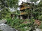 The house is situated belong the small river Canchupi