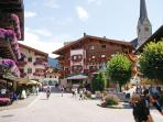 The beautiful picturesque village of Maria alm in the summer with unforgetable flowers everywhere