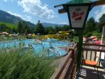 Local village pool ideal for family fun