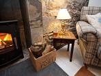 A cosy woodburner makes winter stays as cosy as summer ones