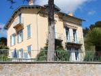 Front of the house leading down to the sea in 100 metres,fabulous sea views