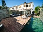 View of the villa with a nice pool