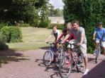 Bicycle hire available