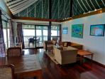 Marlon's living room is the perfect mix of old and new Polynesia! TV, DVD's and Wifi too!