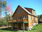 4 Bed Log Home in the western mountains of maine
