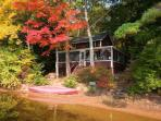 lakeside cottage in quiet setting on lovely lake