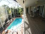The pool and balcony