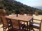 Enjoy outdoor dining with beautiful sea view