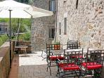 The terrasse infront of the kitchen - one of 3 terraces